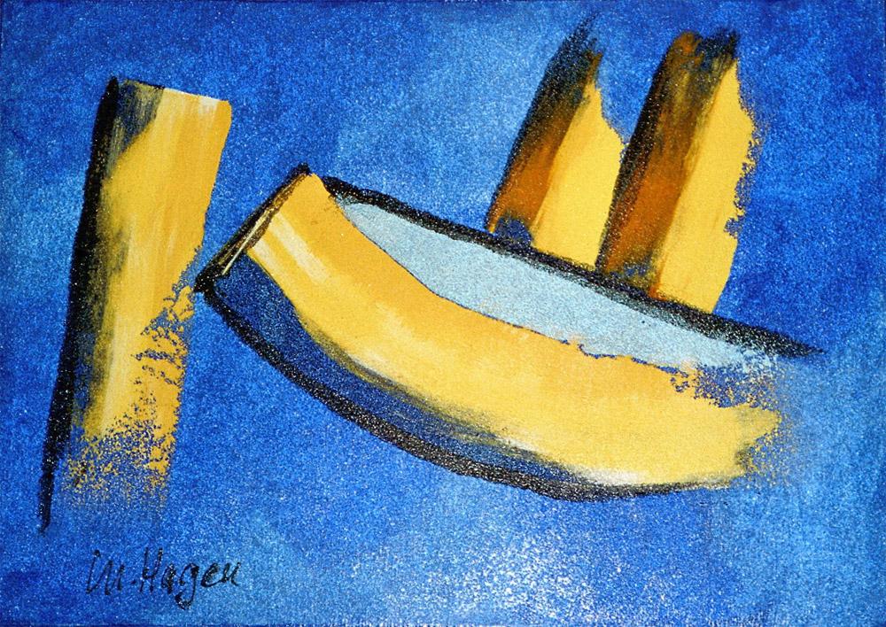 Acryl mit Glassand | 70 cm x 60 cm | Leinwand