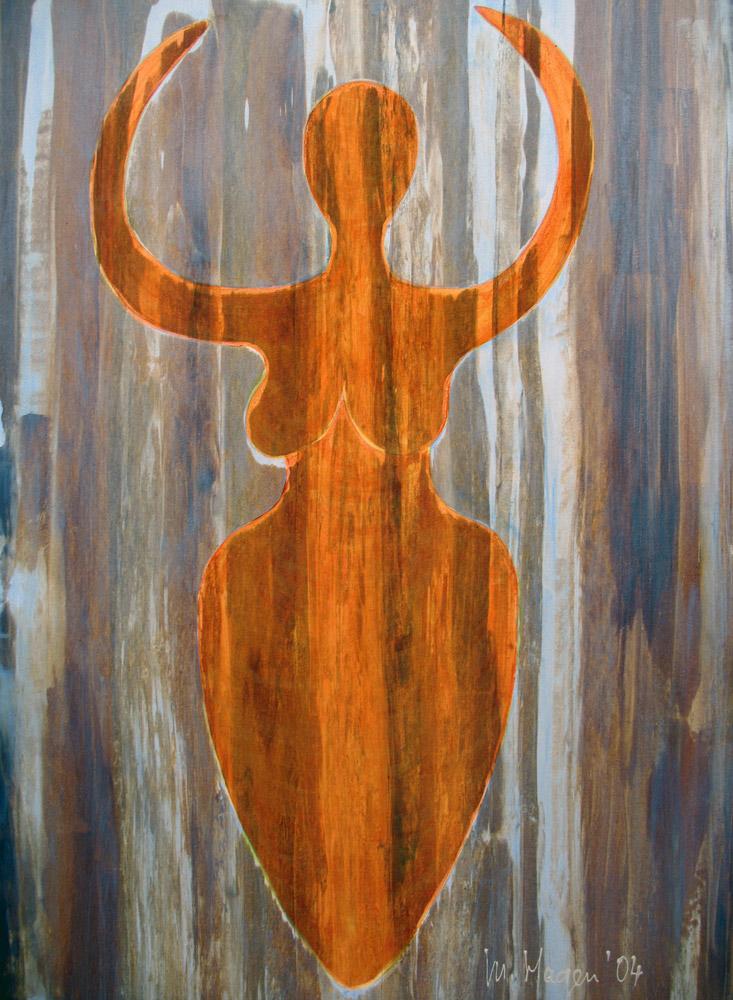 Acryl mit irisierenden Farben | 70 cm x 100 cm | Leinwand