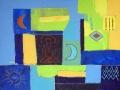 Acryl mit Glassand   60 cm x 80 cm   Holzplatte
