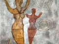 Acryl mit Lavasteinchen   40 cm x 50 cm   Leinwand