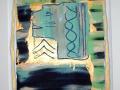 Acryl mit Effektpasten   50 cm x 60 cm   Karton